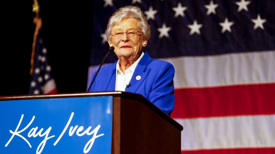 Alabama Gov. Kay Ivey is moving to ban sheriffs from pocketing funds for prisoners' meals.