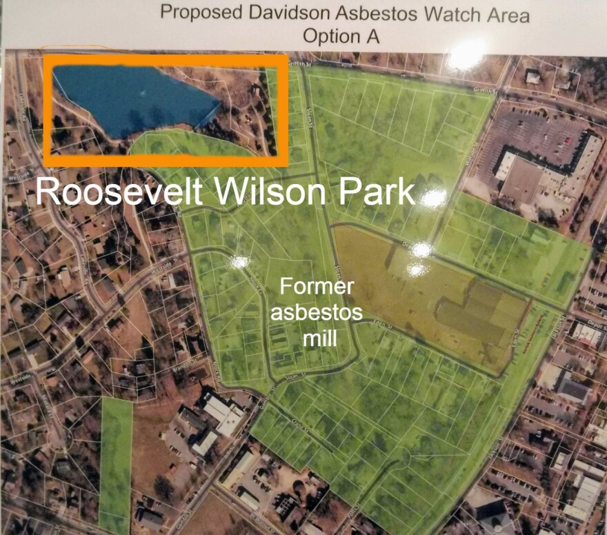 Roosevelt Wilson Park off Griffith Street in Davidson is near the old Carolina Asbestos factory.