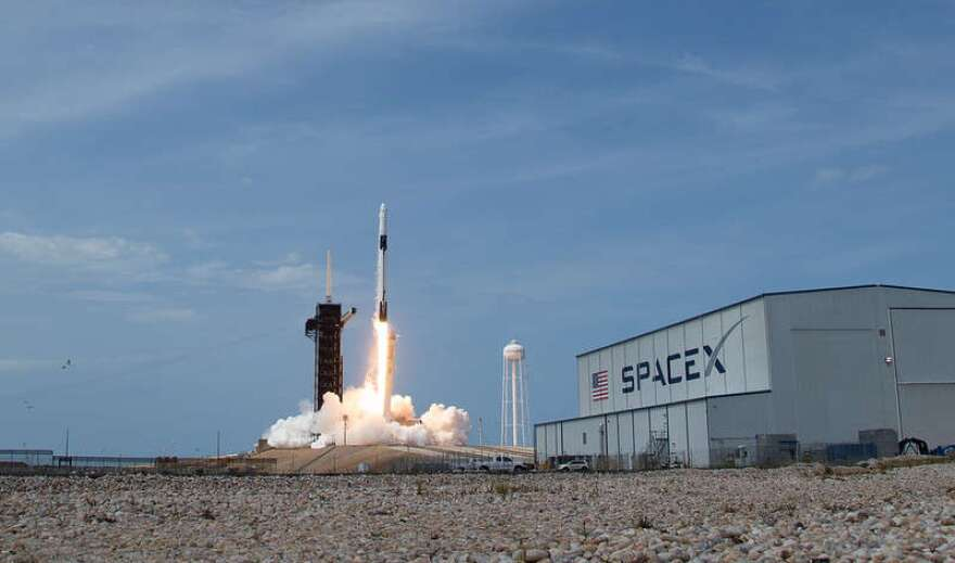SpaceX launches two NASA astronauts to the International Space Station. Despite concerns over coronavirus, Florida's space industry moves forward.