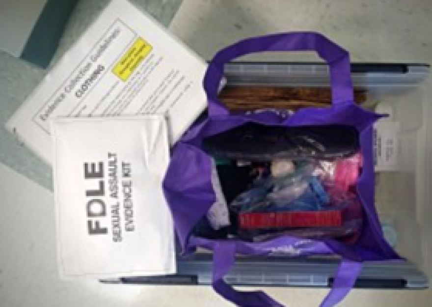 "A ""Code Teal"" kit includes medical equipment for conducting a sexual assault exam, evidence supplies and personal care items."