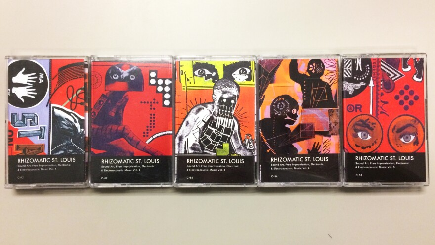 VFull set of Rhizomatic St. Louis tapes produced by Nathan Cook. Covers by Jeremy Kanaple.