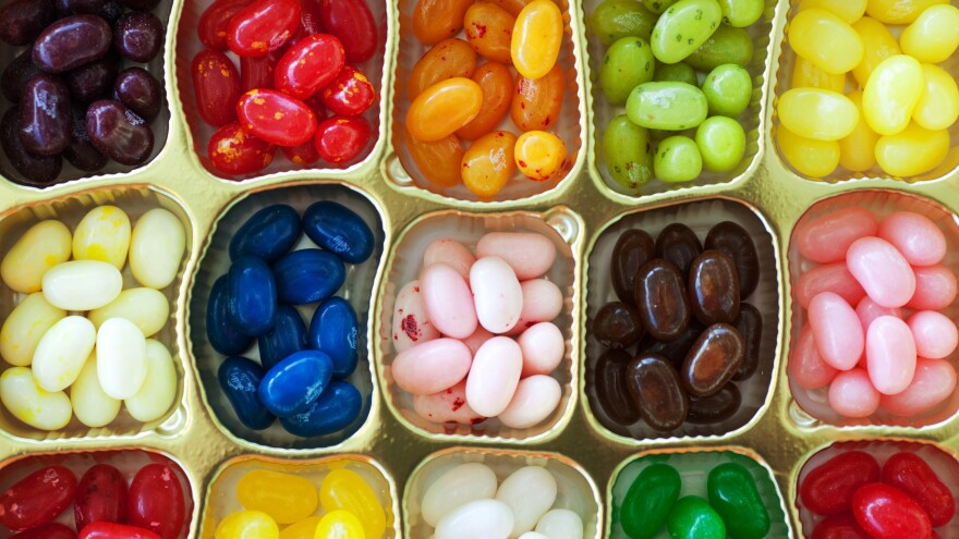 Jelly Belly says its most popular flavors include the savory-sweet Buttered Popcorn and Very Cherry.
