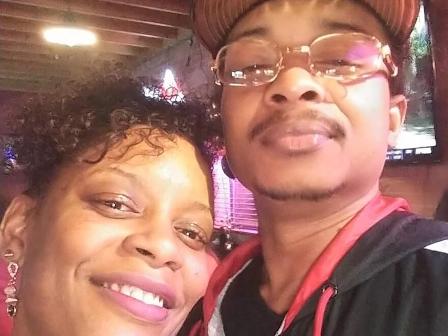 In this September 2019 selfie photo taken in Evanston, Ill., Adria-Joi Watkins poses with her second cousin Jacob Blake. Blake was shot multiple times by a Kenosha police officer on Aug. 23. (Courtesy Adria-Joi Watkins via AP)