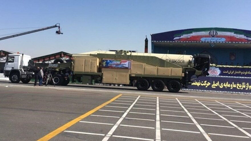 Iran's military says its Khorramshahr missile has a range of 2,000 kilometers (1,243 miles) and can carry multiple warheads.