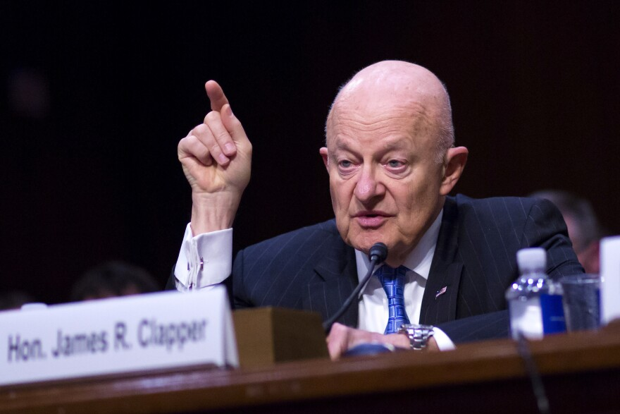 Former Director of National Intelligence James Clapper testifies before the Senate Judiciary Committee's Subcommittee on Crime and Terrorism in the Hart Senate Office Building on May 8, 2017.