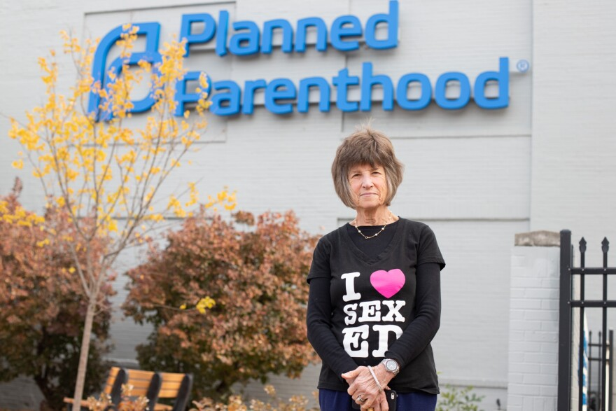 Judy Lipsitz, director of the Teen Advocates for Sexual Health program, stands outside the Planned Parenthood facility in midtown St. Louis.  Nov. 7, 2019