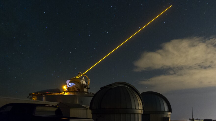 The Jasons, a group of scientists who advise the U.S. government, have developed technologies such as a laser that can help reduce atmospheric distortion. The Air Force uses it to better photograph passing spy satellites.