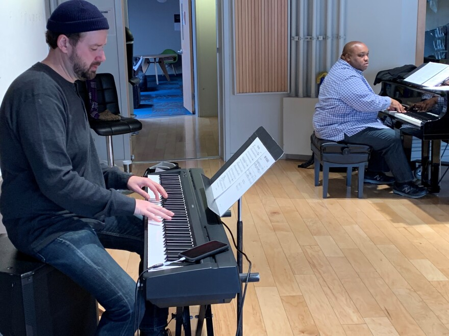 Adam Maness, left, pulled together a pick-up group of ace players including pianist Adaron 'Pops' Jackson. [2/12/20]