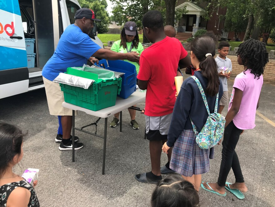 The summer program includes a mobile food pantry that makes stops at 19 locations. [5/19/19]