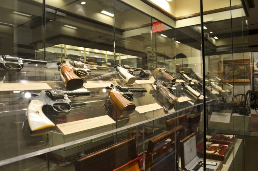 One of the exhibits in the NRA National Firearms Museum at the NRA headquarters in Virginia.