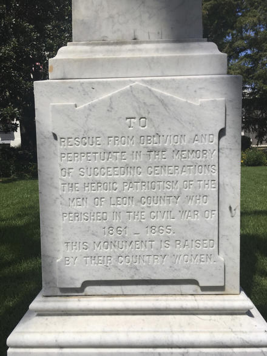 Tallahassee Confederate monument
