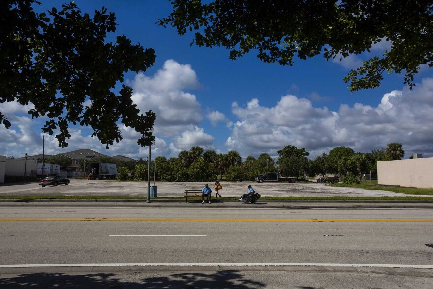 """An empty lot in a West Palm Beach tract that Gov. Rick Scott rejected as an opportunity zone. City leaders wrote that the tracts they recommended were poor but """"well positioned for new investment."""""""