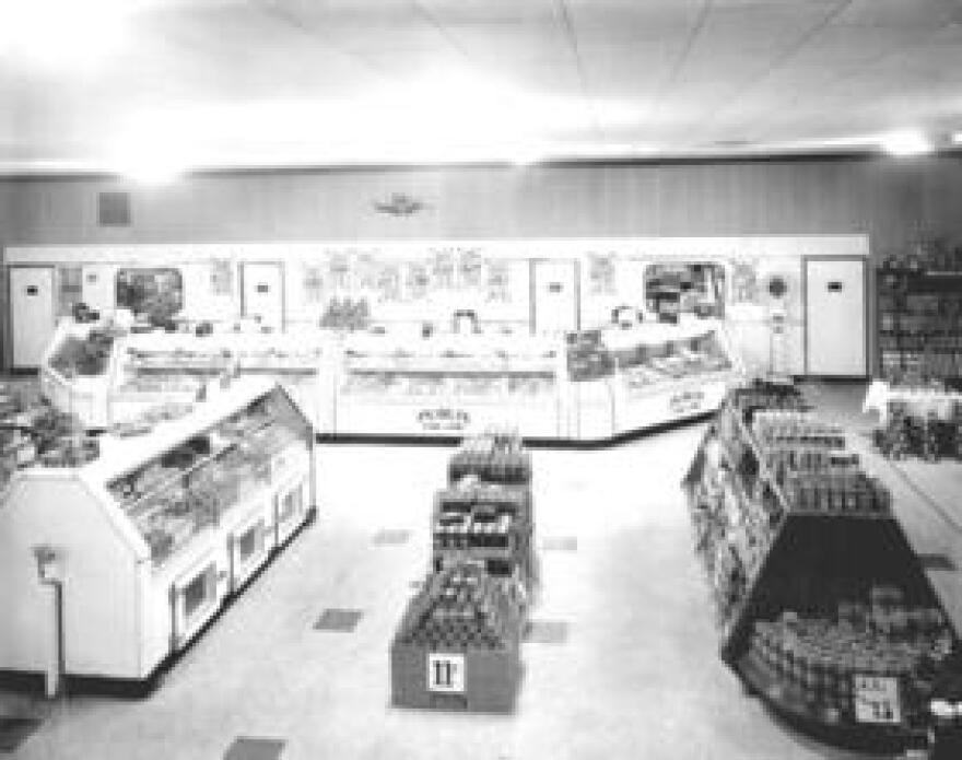 """Publix founder George Jenkins put his """"people weigher"""" or scale in the back so customers would have to walk through the entire store. (Click on the image to expand)"""