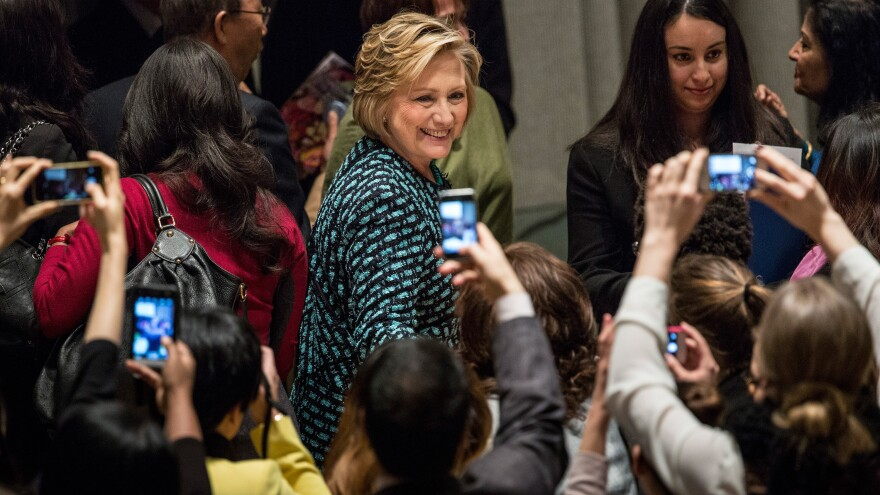 Former Secretary of State Hillary Clinton, seen here at a U.N. event last March, has been criticized for using a private email account to conduct official business during her four years in the Obama administration.