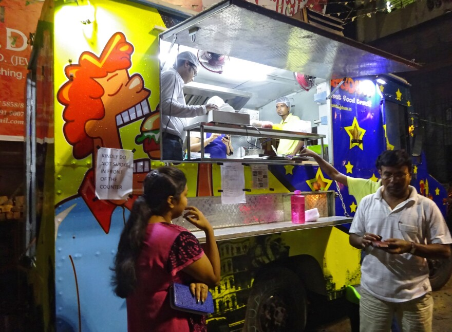 Kolkata now has its first food truck: Agdum Bagdum. Its owners, two foodies who quit pharmaceutical jobs to become food truckers, were inspired by America's food truck craze — which, of course, was inspired by street food in places like Kolkata.