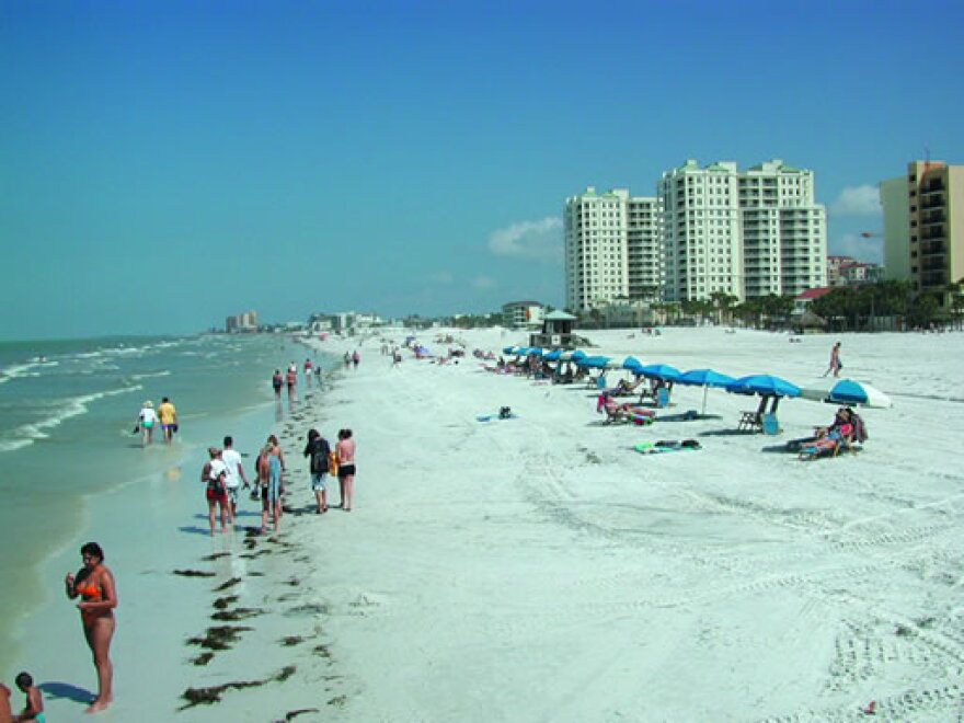 Tourists at Clearwater Beach.