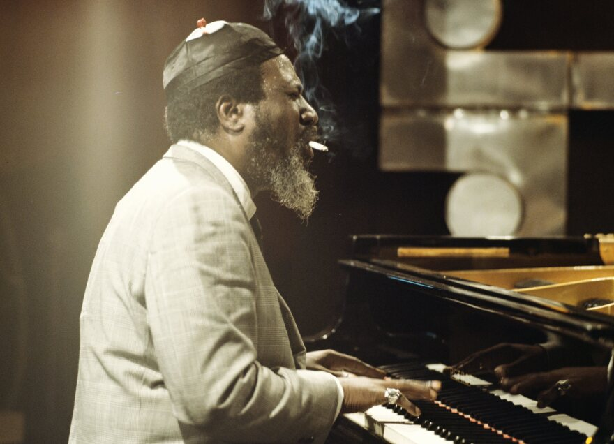 Thelonious Monk performs in London in 1970.