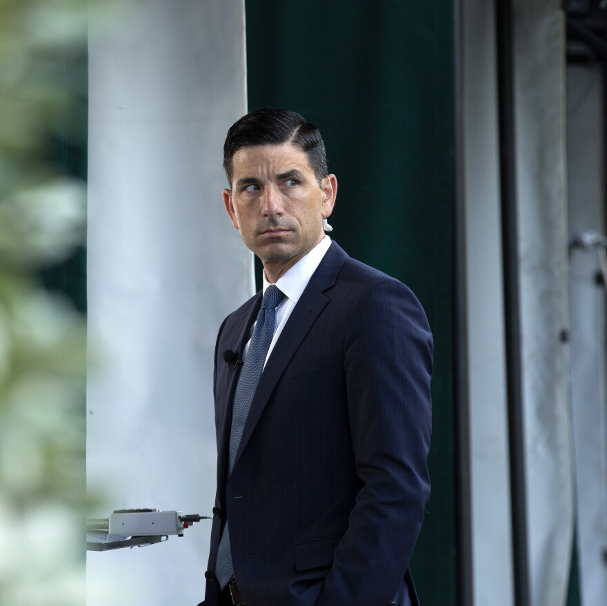 Chad Wolf, acting secretary of the Department of Homeland Security, outside the White House in Washington, D.C., last week.