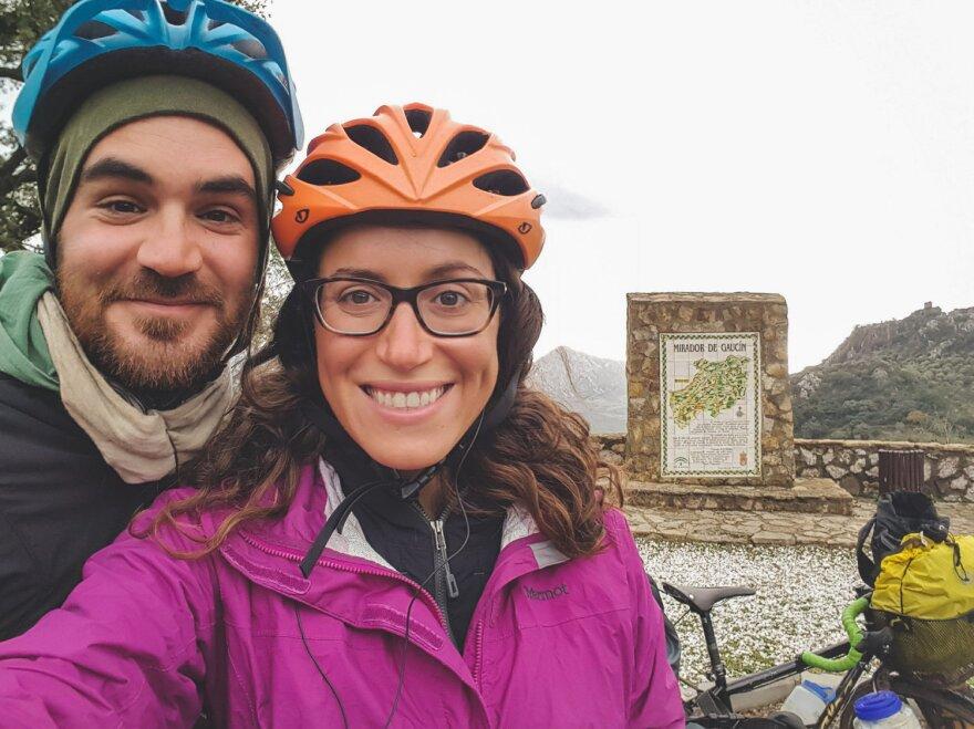 Jay Austin and Lauren Geoghegan in Spain.