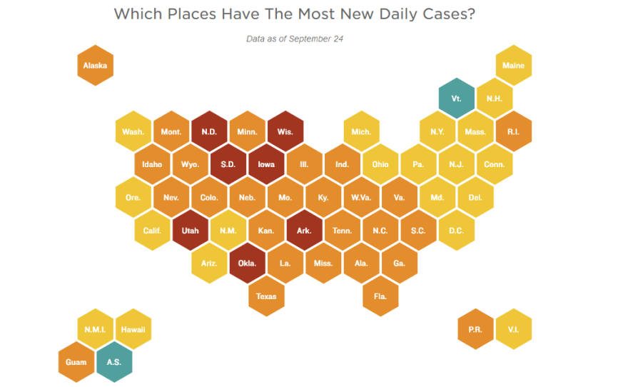 Which places Have the most new cases?