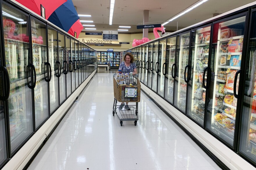 "After a week off for college visits, Gordon is hustling to keep up the number of hours worked for Instacart. She has to log at least 90 hours in three weeks to get ""early access"" to the app's schedule of shifts. It's the only way she can get predictable and long enough hours to make the gig worth it for her."