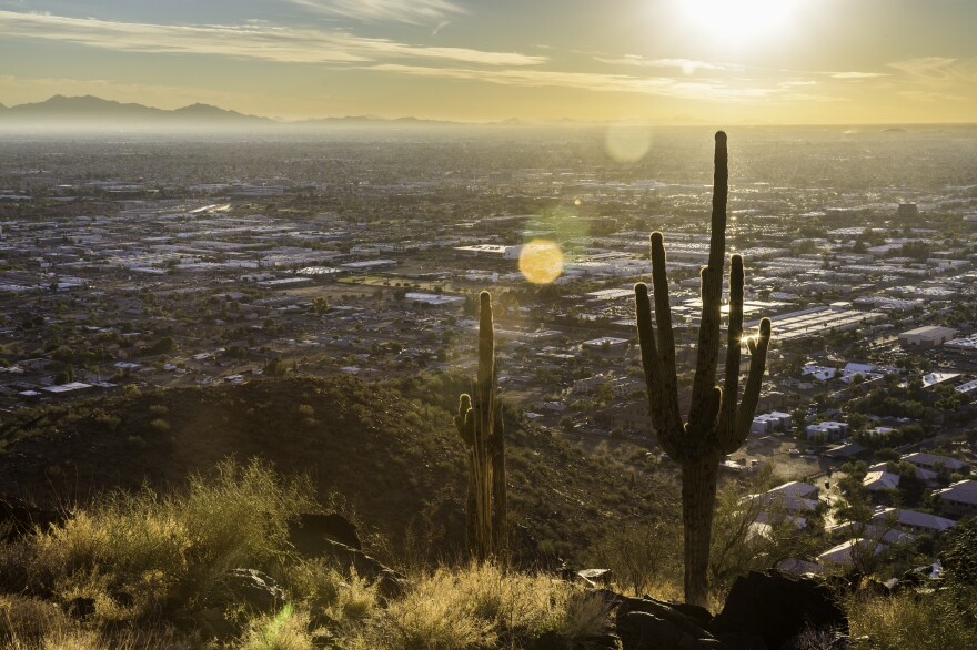 Piestawa Peak in Phoenix. Hiking trails and desert areas are a common location for heat related deaths, which have been on the rise in recent years.