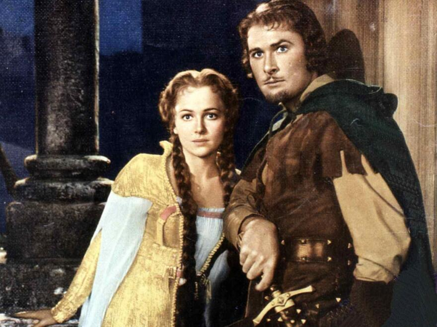 A Robin Hood society in the U.K. is welcoming new followers online, even if some of them found the group while looking for the Robinhood stock app. Here, Errol Flynn portrays Robin Hood alongside Olivia de Havilland as Maid Marian in a film about the famously generous bandit.