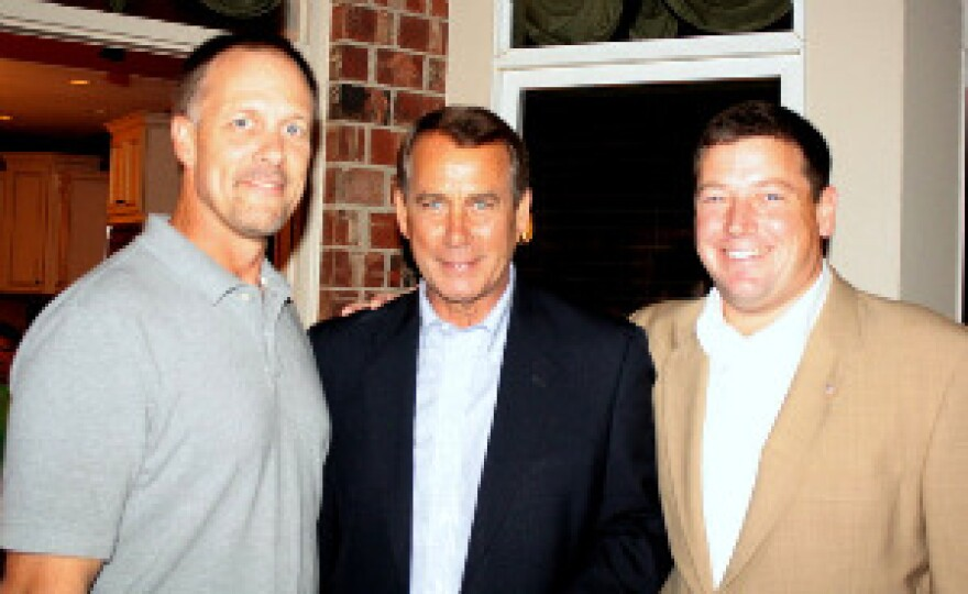(From left) Rick Firebaugh, John Boehner and Ed Martin