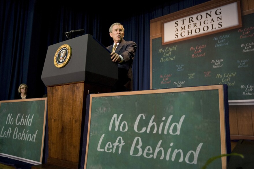 In 2008, President George W. Bush addressed his No Child Left Behind act. Congress now appears ready to overhaul the law, which is the nation's most important federal education act.