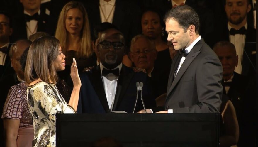 Dr. Patrice Harris is inaugurated as the AMA's president during a ceremony in June.