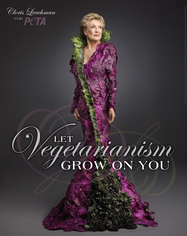 Cloris Leachman models veggie chic in a campaign for PETA.
