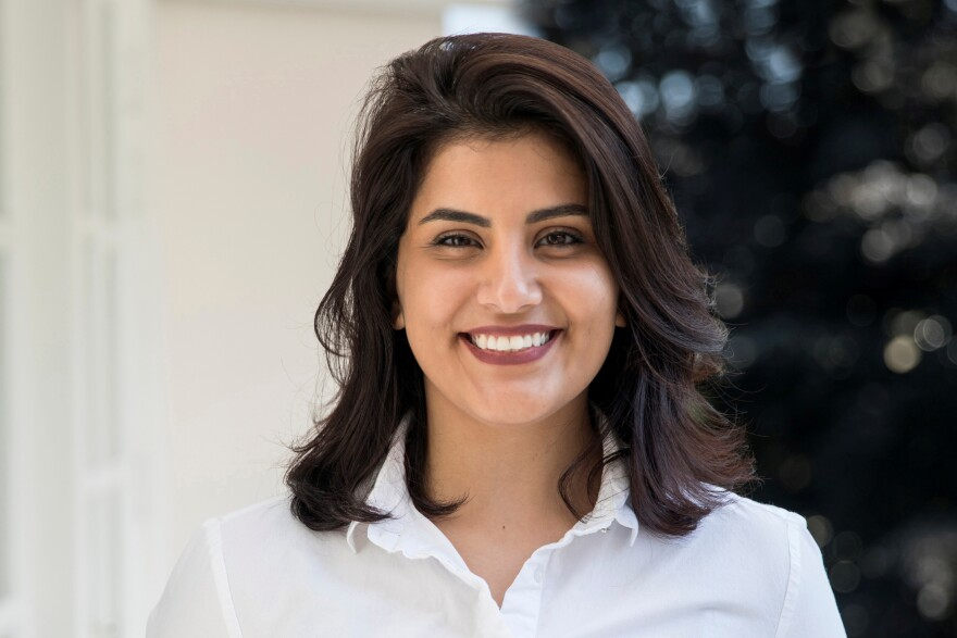 Saudi women's rights activist Loujain al-Hathloul, 31, seen in an undated picture, was sentenced in December to nearly six years in prison. She has already been in prison for more than two years, since her arrest in 2018, just weeks before Saudi Arabia lifted its ban on women driving. Her family says she has been tortured and is not allowed phone calls or visits from relatives.