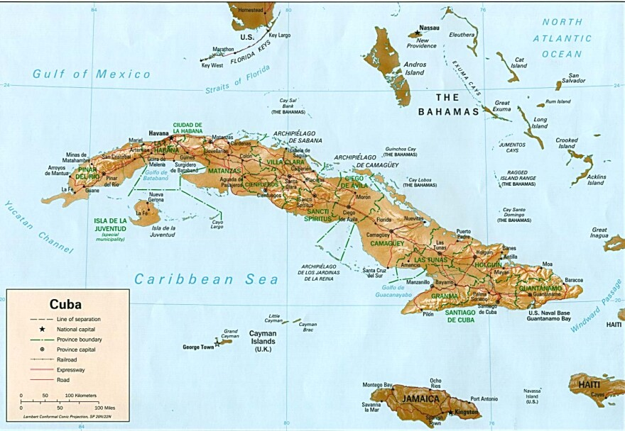 Cuba has a population of approximately 11 million. At the closest point it is 93 miles from the island to the United States.