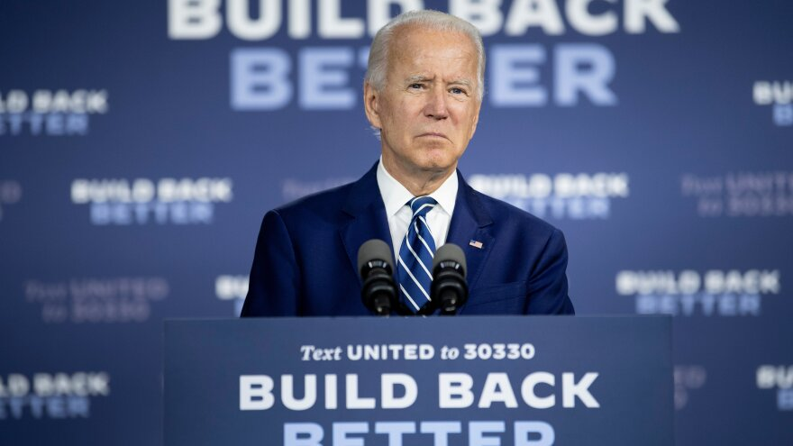 """Presumptive Democratic presidential nominee Joe Biden, seen here on July 21, unveiled the fourth plank of his """"Build Back Better"""" agenda on Tuesday, to address racial inequities."""