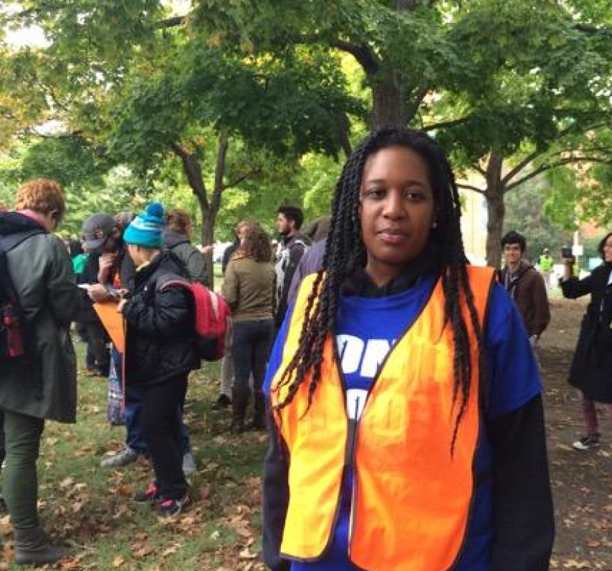 Abeba Lakew was one of the volunteers who was ready to de-escalate any trouble.