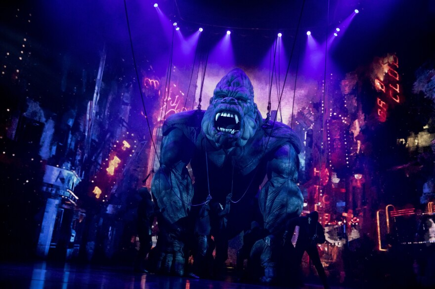 The new Broadway adaptation of <em>King Kong</em> features a giant puppet which requires 15 people to operate.