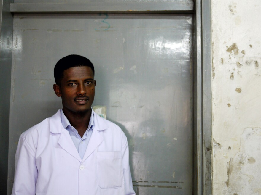 Zelem Abdissa is a pediatric nurse. He's seen too many cases where the hospital couldn't help a patient.