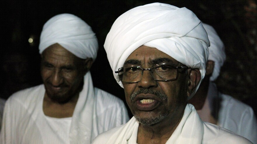 Sudan's President Omar al-Bashir, who faces genocide charges, has applied for a visa to come to the U.S. for the annual United Nations General Assembly next week. The U.S. has not yet said whether he'll be allowed in the country.