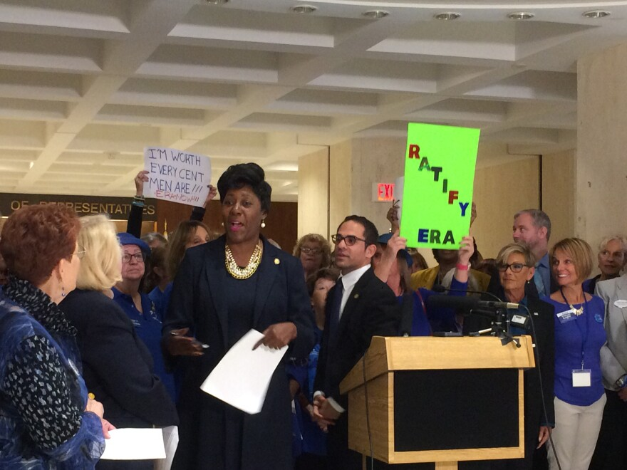 The Democratic Women's Club of Florida Chants for the Equal Rights Amendment at the Florida Capitol.