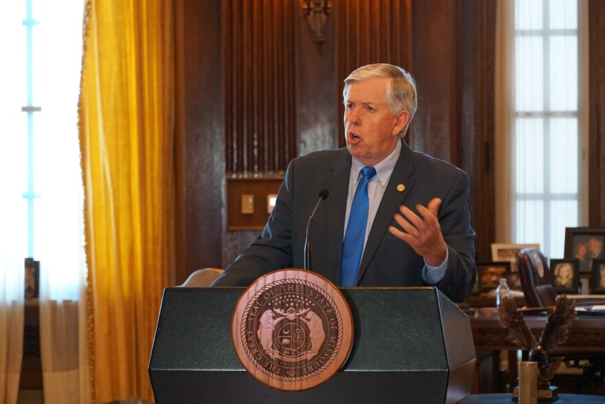 Parson press briefing on June 1, 2020
