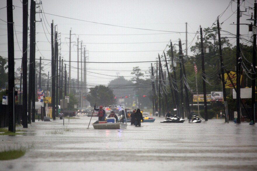 Hurricane Harvey devastated parts of Houston in 2017.