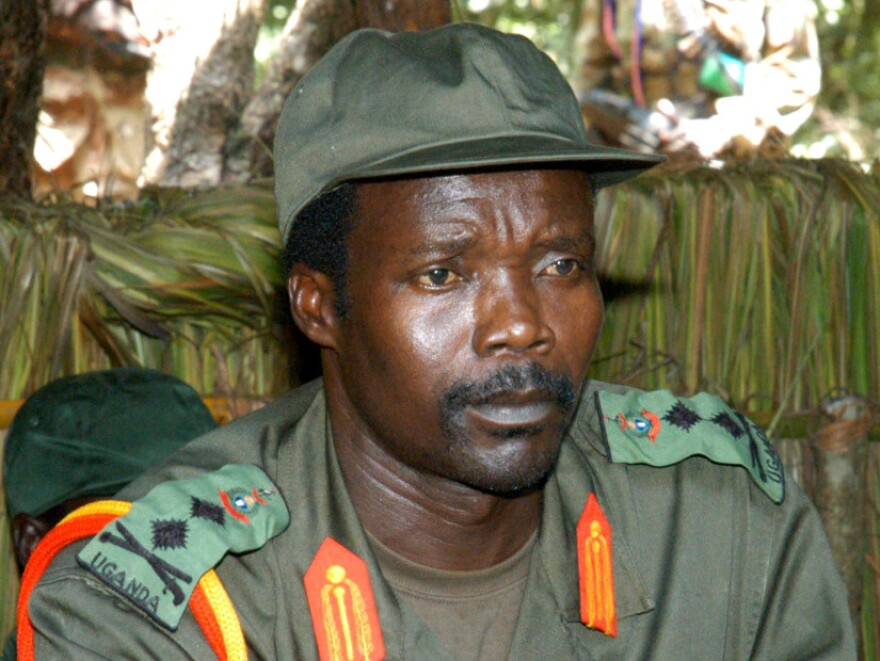 <p>Joseph Kony, leader of the Lord's Resistance Army, in a 2006 photo. The Obama administration has sent 100 troops to advise militaries in Uganda and neighboring countries that are battling Kony's forces.</p>