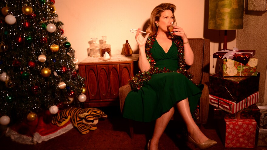 """""""It's the most nauseating idea in the world: a comedian in a gown leaning against a baby grand without making a joke,"""" Ana Gasteyer says. There are plenty of jokes (and a lot of great singing) on her new holiday album."""