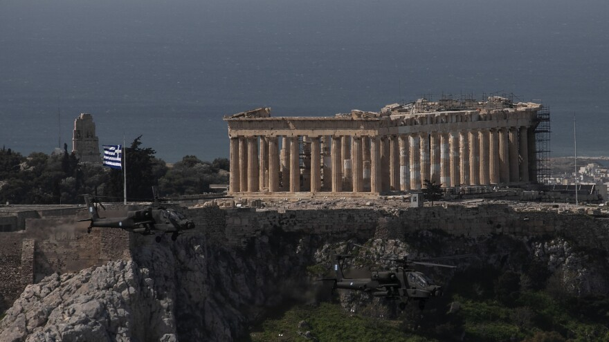 The Acropolis is one of Greece's most popular tourist attractions. More than 32 million foreign tourists visited Greece last year.