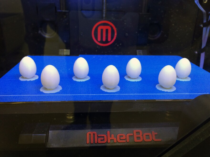 A 3-D printer can turn out any number of identical faux eggs of nearly any shape or size. Such uniformity is crucial in replicating science studies and is tough to achieve when each of the fakes is handcrafted, the old-fashioned way.