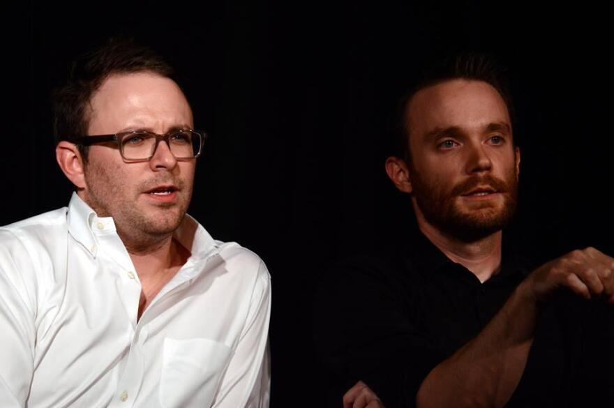 The Improv Shop founder Kevin McKernan (left) and General Manager Andy Sloey (right) in an improv scene