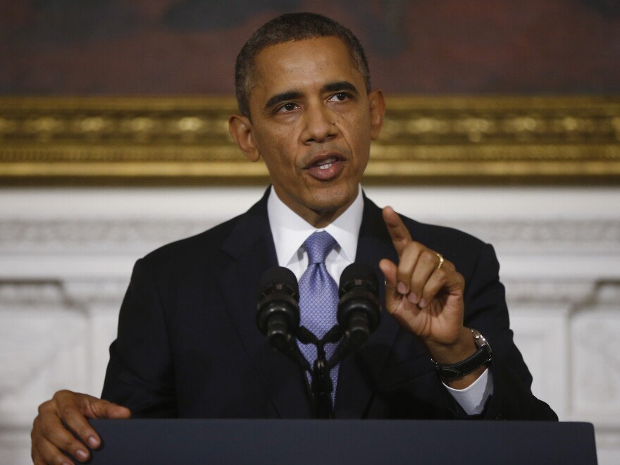 "At the White House on Thursday, President Obama said ""the American people are completely fed up with Washington."""