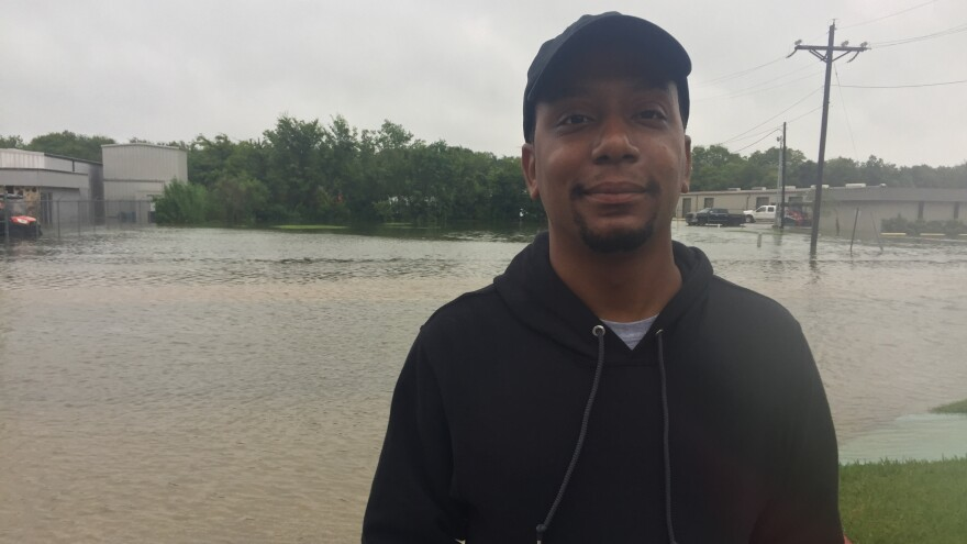 John Livious started over in Houston after being evacuated from New Orleans during Hurricane Katrina. Now, flooding has forced him to leave this new city.