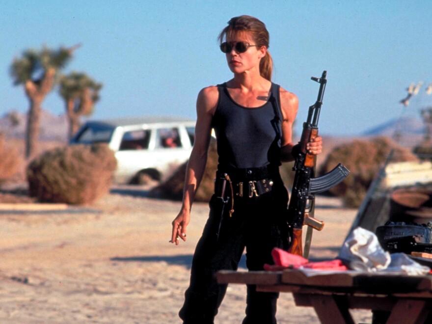 Linda Hamilton, pictured here in <em>Terminator 2: Judgement Day</em>, originated the role of Sarah Conner.