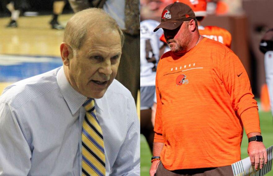 Cavaliers coach John Beilein and Browns coach Freddie Kitchens